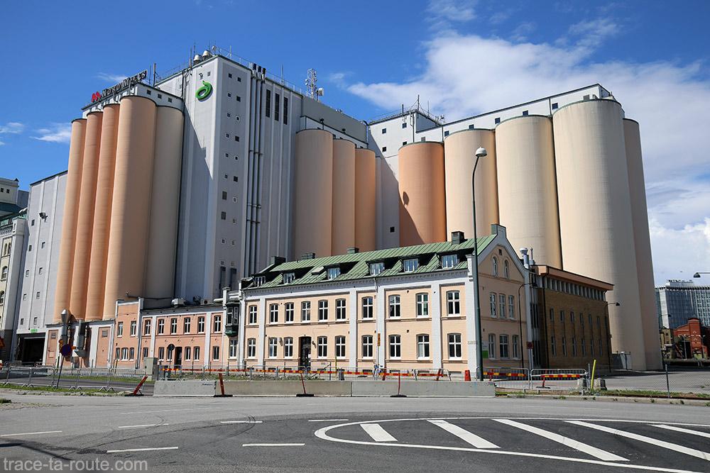 Silos à grains bâtiment Valskarn sur Högskola à Malmo, Suède