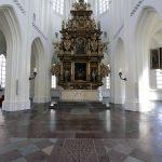 Retable autel choeur intérieur Église Saint-Pierre de Malmö, Suède (Sankt Petri Kyrka)