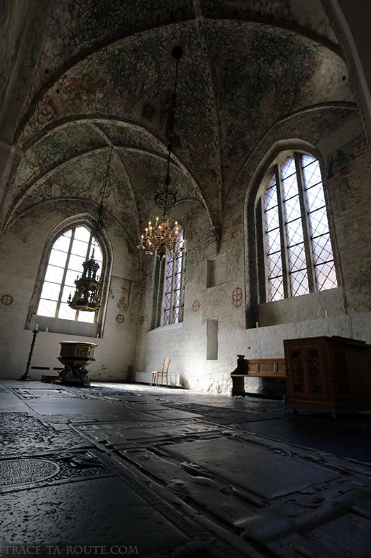 Fresques chapelle baptistère intérieur Église Saint-Pierre de Malmö, Suède (Sankt Petri Kyrka)