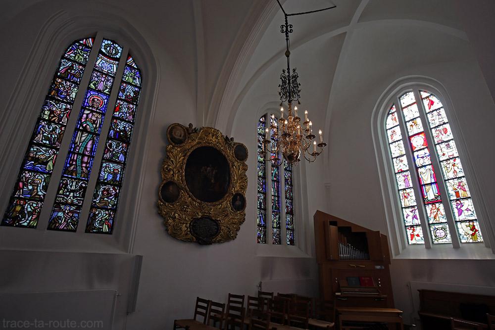 Vitraux chapelle intérieur Église Saint-Pierre de Malmö, Suède (Sankt Petri Kyrka)