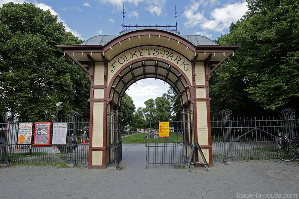 Entrée du Folkets Park de Malmö, Suède