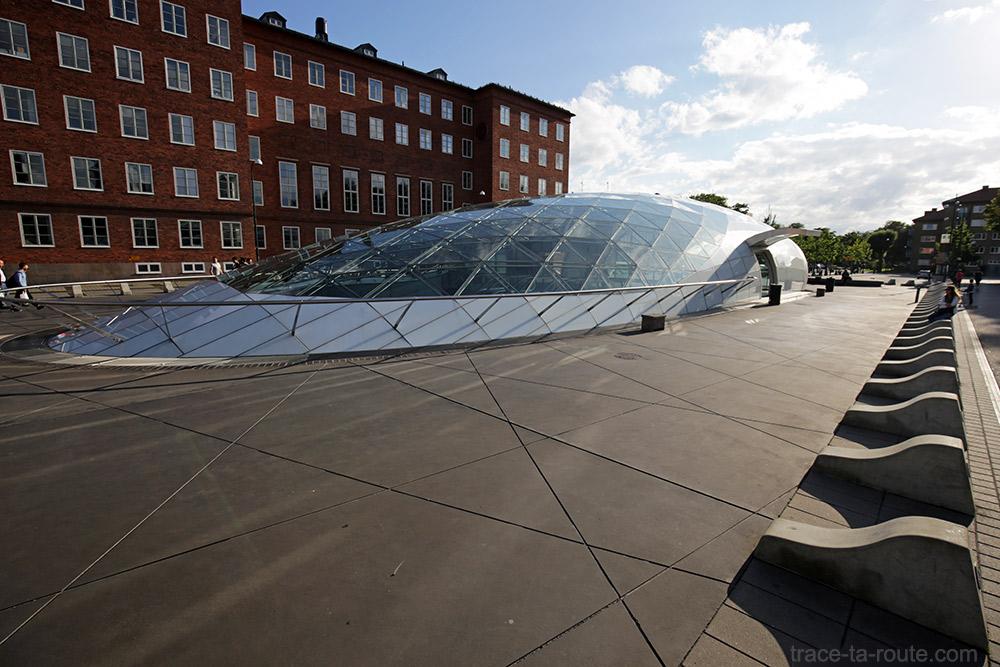 Triangeln station, bouche de métro de Malmö, Suède