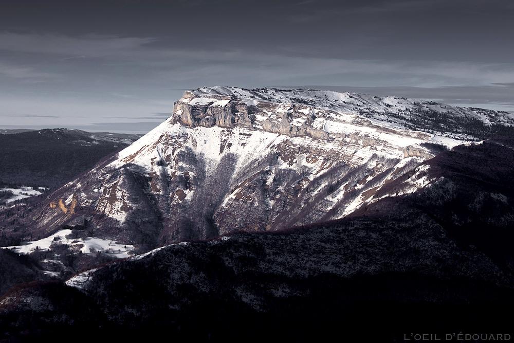 Neige à Margeriaz - Massif des Bauges en hiver - vue depuis le Sommet de la Pointe de la Galoppaz © L'Oeil d'Édouard