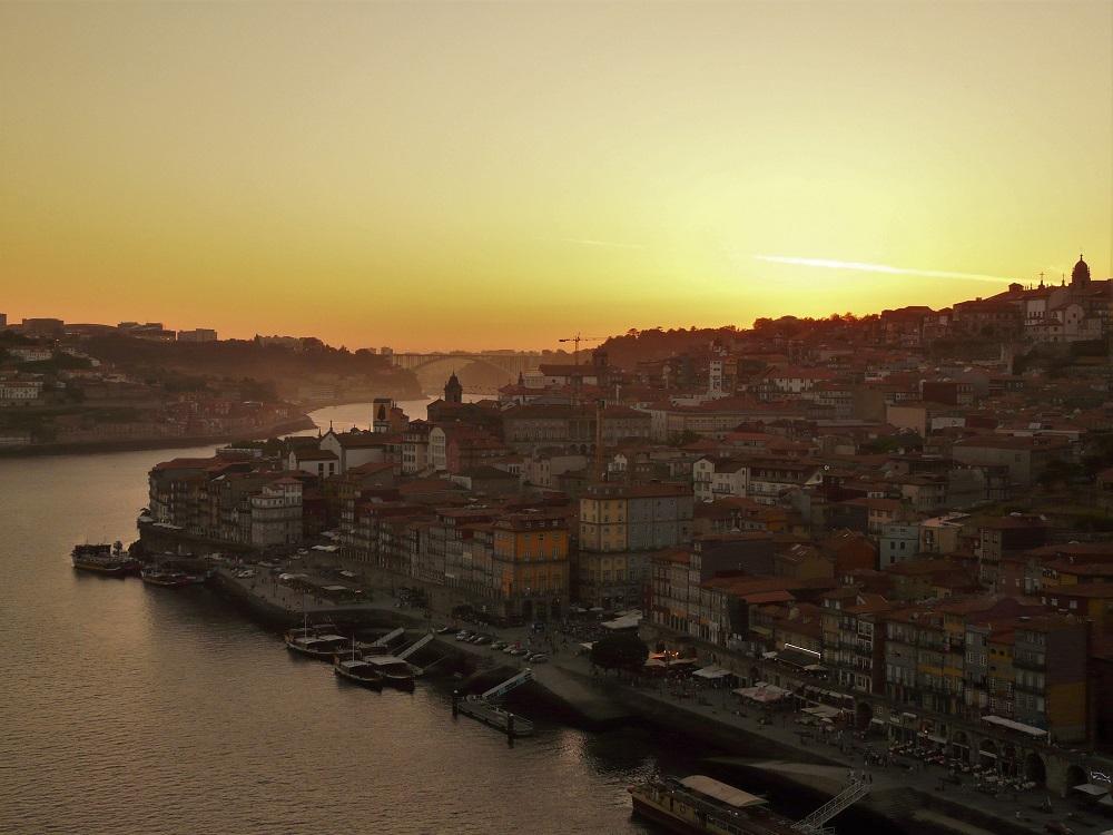 soleil couchant sur Porto