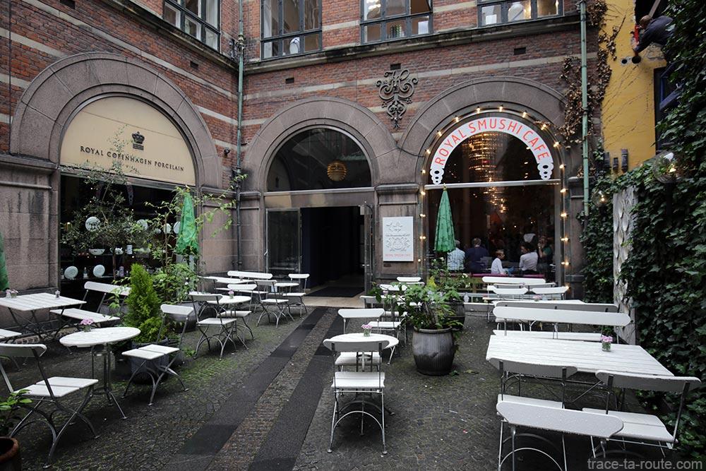 Terrasse du Royal Sushi Cafe à Copenhague, Danemark