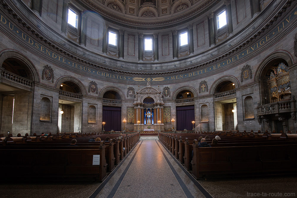 Intérieur choeur Église Marmorkirken Frederiks kirke de Copenhague, Danemark