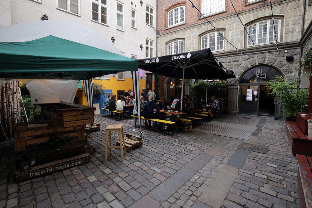 Terrasse du Bastard Cafe à Huset KBH de Copenhague, Danemark