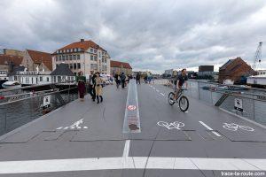 Pont avec la piste cyclable dans le quartier Christiana - Christianshavn, Copenhagen Danemark