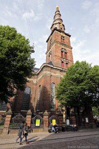 Église Vor Frelsers Kirke dans le quartier Christiana à Copenhague, Danemark - Christianshavn Copenhagen