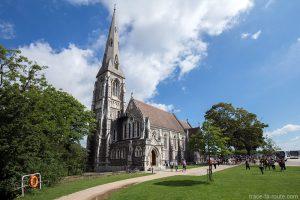 Parc Kastellet : Église Saint-Alban à Copenhague, Danemark