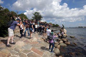 Photos de la statue de la Petite Sirène à Copenhague, Danemark