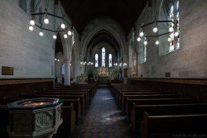 Intérieur Église Saint-Alban à Copenhague, Danemark