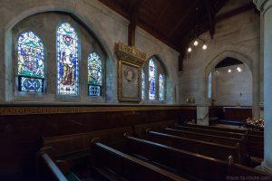 Vitraux intérieur Église Saint-Alban à Copenhague, Danemark