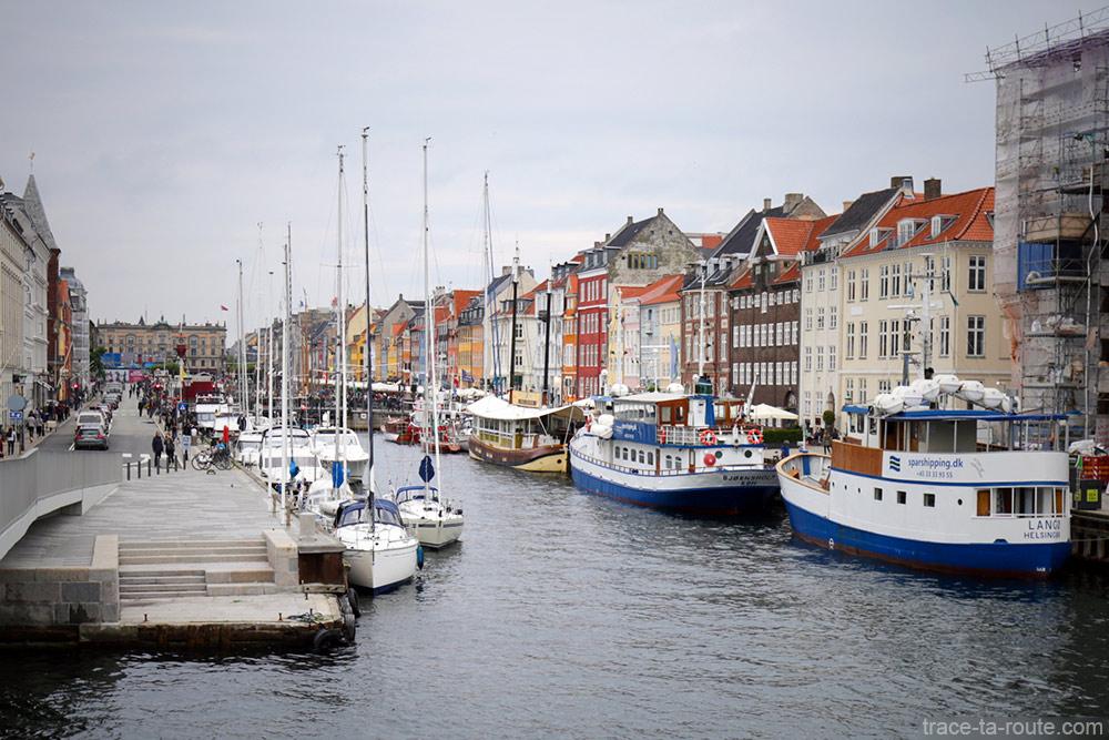 Bateaux sur le canal de Nyhavn - Copenhague, Danemark