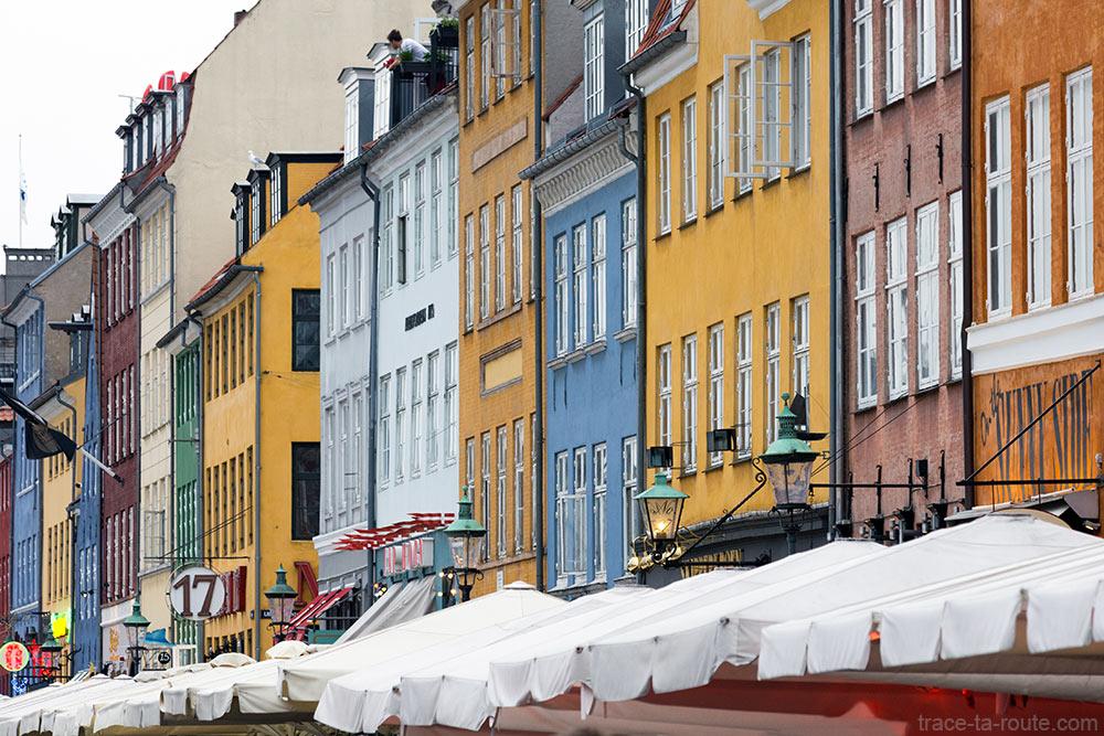 Façades colorées de Nyhavn, Copenhague (Danemark)