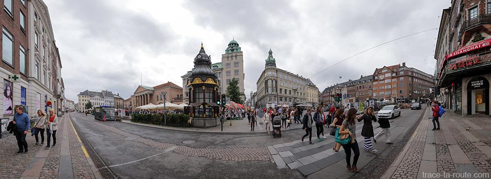 Place Nytorv sur Strøget à Copenhague, Danemark