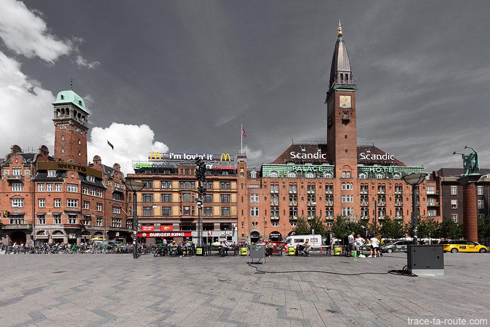 Scandais Palace Hotel sur la place Radhuspladsen de Copenhague, Danemark