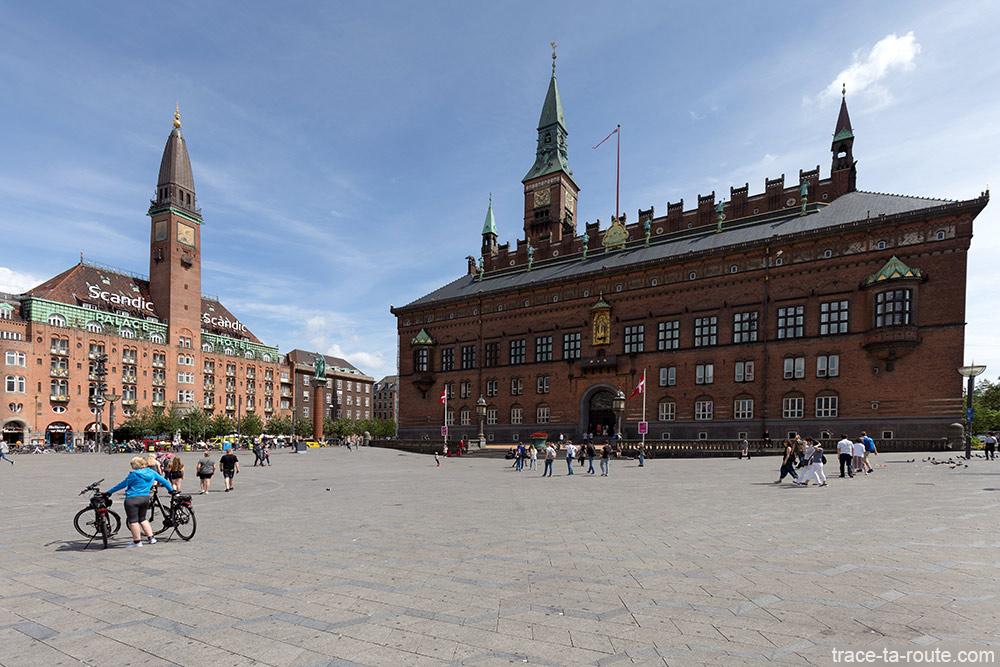 Place Radhuspladsen de Copenhague : Scandic Palace et Hotel de Ville Radhus