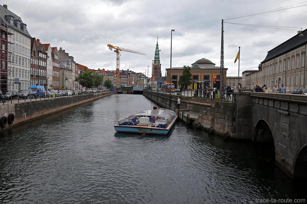 Canal de Slotsholmen de Copenhague, Danemark