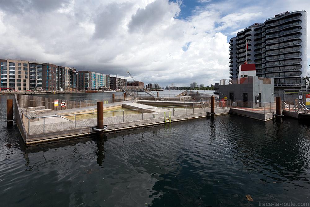 Plage piscine Koralbet / Havnebadet Sluseholmen à Copenhague, Danemark