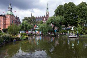 Les Jardins de Tivoli Gardens à Copenhague, Danemark
