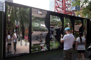 Miroirs déformants aux Jardins de Tivoli Gardens - Copenhague, Danemark
