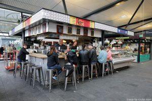 Bar à Tapas del Toro à l'intérieur des Halles du marché Torvehallerne à Copenhague, Danemark