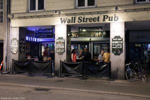 Bar Wall Street Pub à Copenhague, Danemark