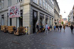 Bar étudiant Studenterhuset dans la rue Købmagergade à Copenhague, Danemark
