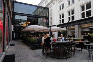Terrasse de bar sur Pilestraede à Copenhague, Damenark