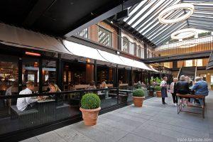 Terrasse du Bar 0 et du restaurant The Market sur Pilestraede à Copenhague, Damenark