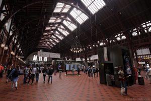 Intérieur hall gare København H à Copenhague, Danemark