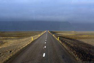 Route 1 en Islande en direction du Skaftafell Road 1 Iceland Landscape