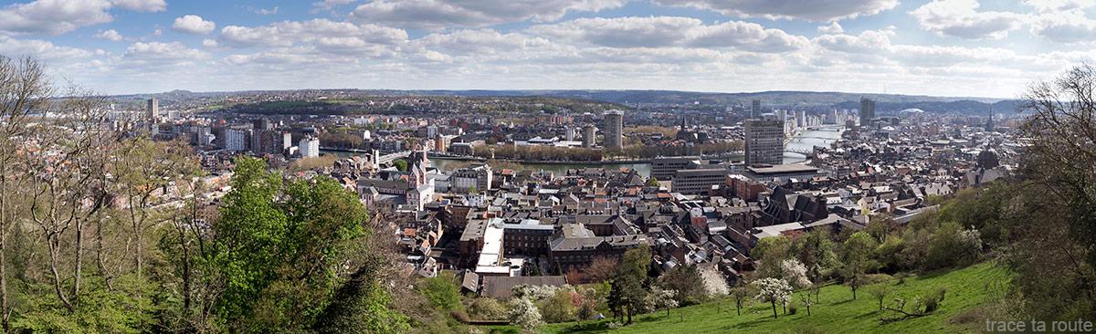 Ville de Liège, vue panoramique depuis le belvédère du sentier des coteaux