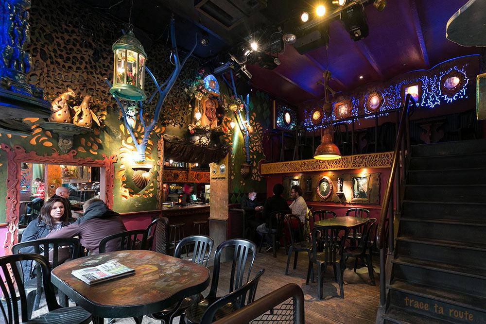 Bar Le Pot au lait à Liège - décoration salle, intérieur