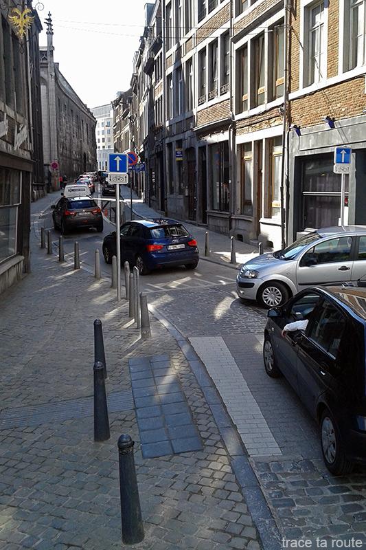 Bouchons de Liège, rue du palais