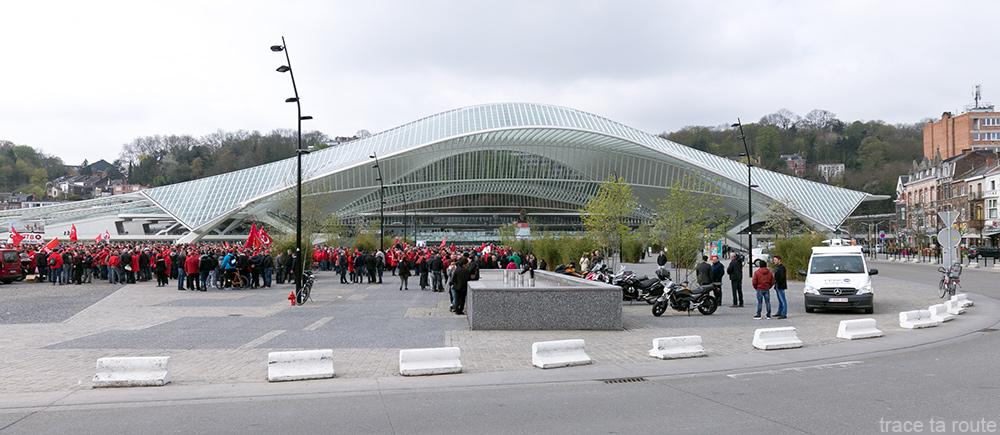Gare Liège-Guillemins - Santiago Calatrava - Place des Guillemins, Liège