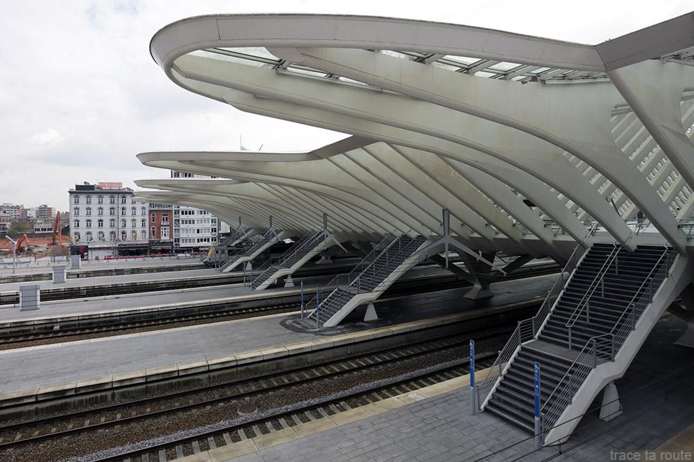 Quais Gare des Guillemins Liège - Santiago Calatrava