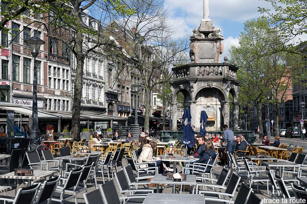 Terrasses de bars Place du Marché à Liège