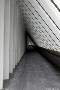 Architecture Gare des Guillemins Liège - Santiago Calatrava - couloir