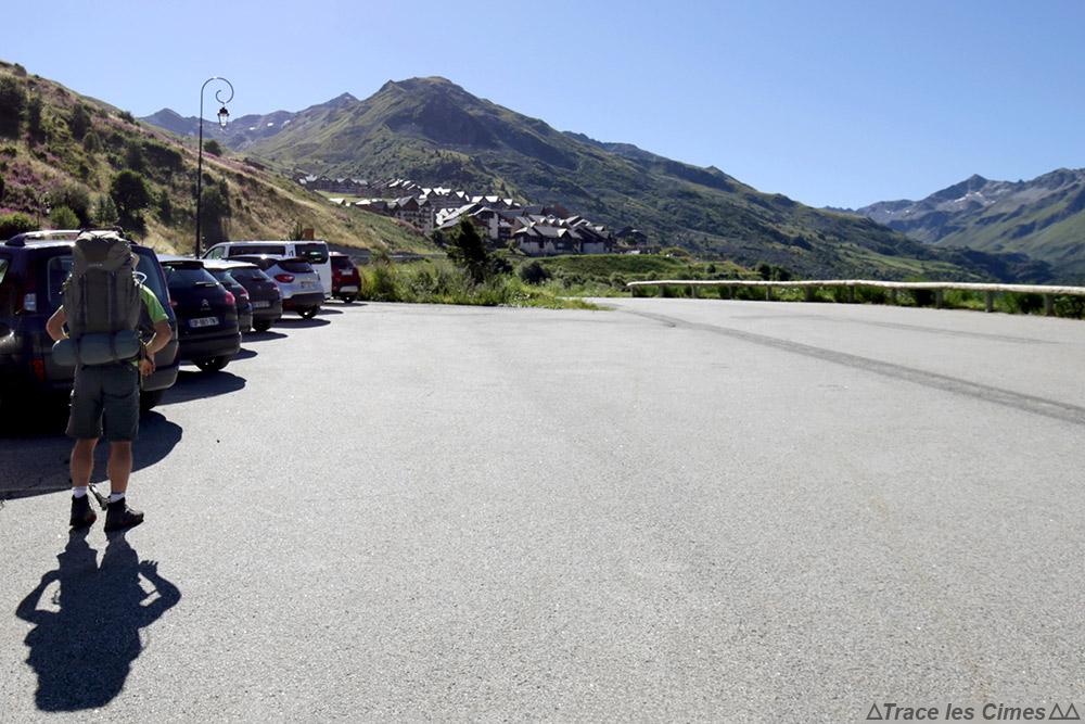 Valmeinier 1800 Parking Les Saussettes - Départ du Tour du Mont Thabor