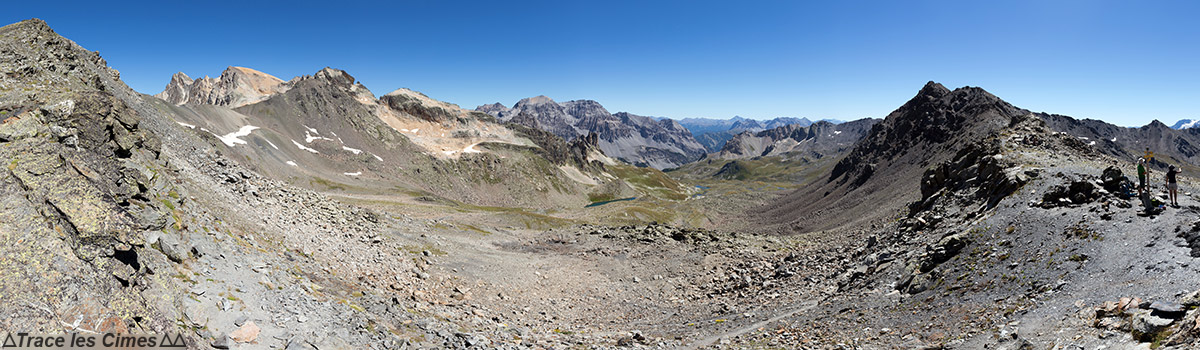 Vue sur le Mont Thabor et le Prat du Plan depuis le Col des Muandes - Tour du Mont Thabor