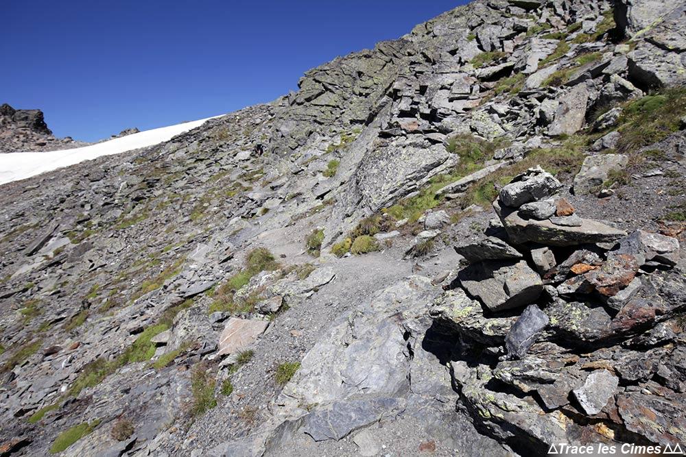 Chemin de crête à la Pointe du Chardonnet - Tour du Mont Thabor