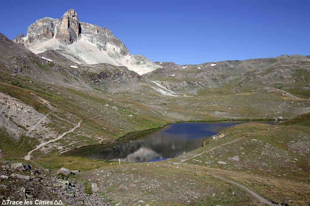 Cheval Blanc et Lac Long (Lacs Sainte-Marguerite) - randonnée trek tour du Mont Thabor