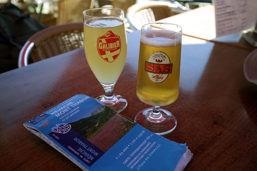 Bière Galibier et bière SAS, carte ign Névache Mont Thabor - randonnée trek du Tour du Mont Thabor