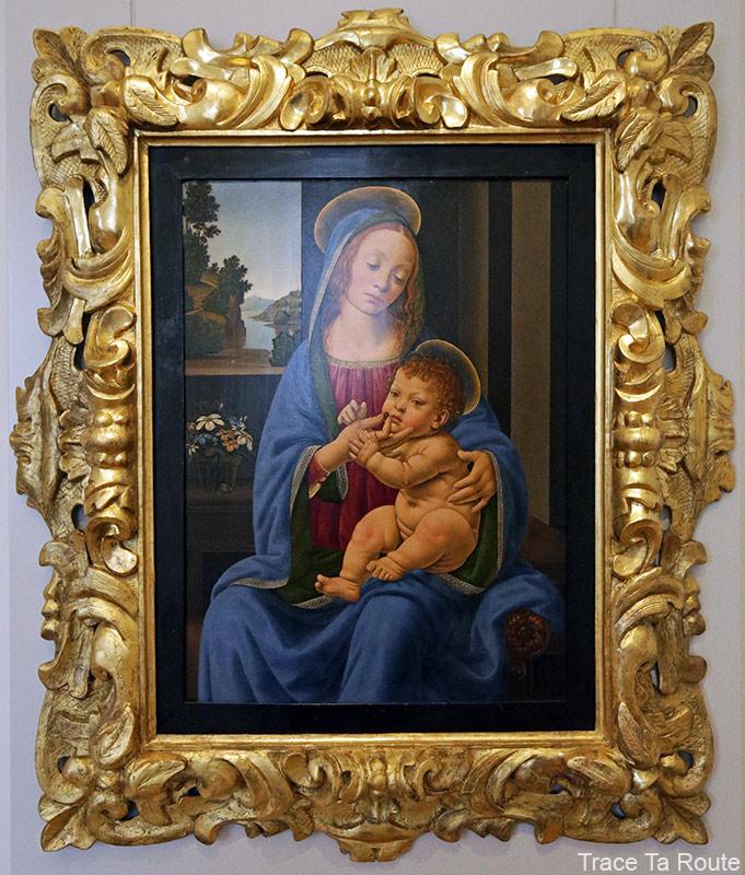 Vierge à l'Enfant (vers 1485) Lorenzo di Credi - Galleria Sabauda Palazzo Reale Turin