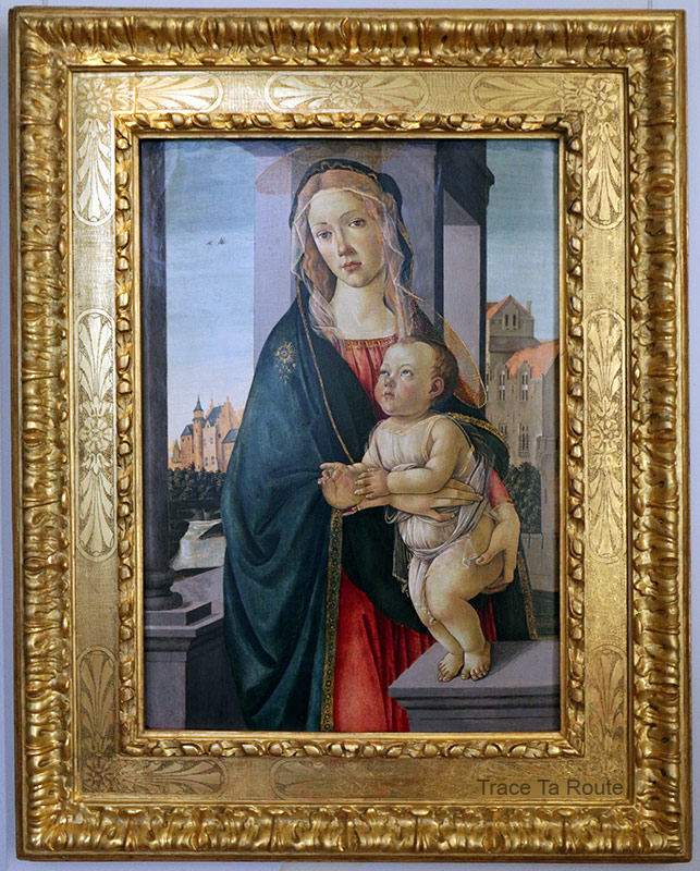 Vierge à l'Enfant (vers 1487) Sandro BOTTICELLI - Galleria Sabauda Palazzo Reale Turin
