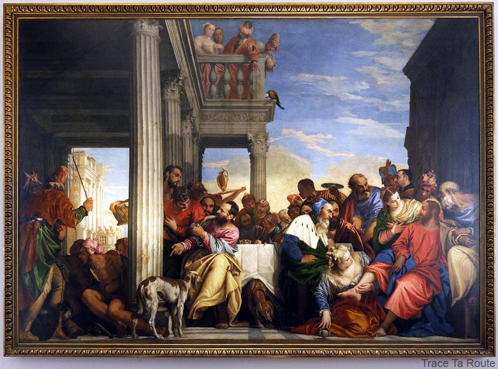 Le Christ dans la maison de Simon Le Pharisien (1555-1556) Paolo VERONESE - Galleria Sabauda Palazzo Reale Turin