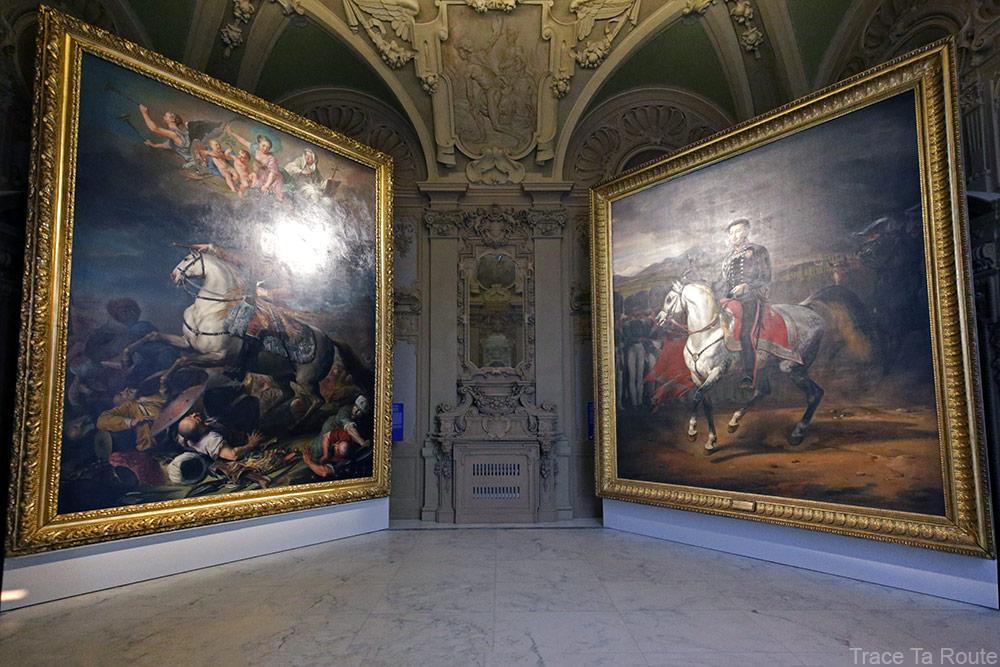 Portrait du Prince Eugène de Savoie-Soissons (1718-1720) Jacob VAN SCHUPPEN / Portrait équestre de Charles-Albert de Sardaigne (1834) Horace VERNET - Galleria Sabauda Palazzo Reale Turin