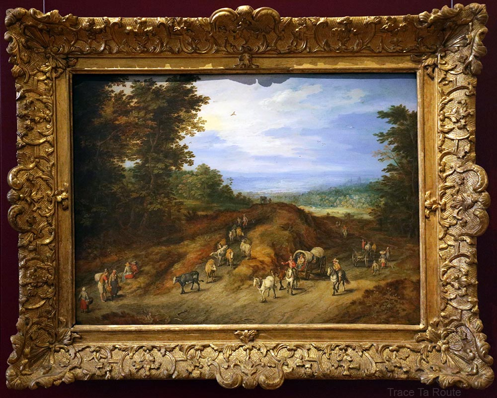 Paysage avec paysans, charrettes et bétail (1613) Jan BRUEGEL L'ANCIEN - Galleria Sabauda Palazzo Reale Turin